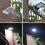 תאורת לד סולארית עם חיישן תנועה ומוגנת בפני מים!