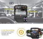 מצלמת רכב כפולה (פנים הרכב ומצלמה קדמית) של Junsun Q2 במחיר מעולה