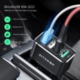 ירידת מחיר ללא צורך בקופון + משלוח חינם! מטען לרכב עם 4 יציאות USB – תומך בטעינה מהירה QC 3.0! הדגם BlitzWolf BW-TC12