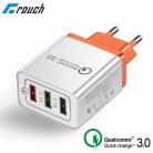 מעל 80,000(!) הזמנות 🔥 מטען קיר תומך בהטענה מהירה QC 3.0 עם 3 כניסות USB
