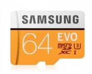 כרטיס זיכרון סמסונג EVO בנפח 64GB ב-15.99$