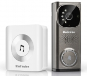 הקופון מוריד את המחיר מתחת לרף המכס! פעמון משולב במצלמה לדלת הבית.. לענות גם כשאתם לא נמצאים! הדגם Alfawise WD613