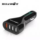 מטען מהיר לרכב עם 4 יציאות USB של חברת BlitzWolf!