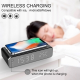 שעון מעורר עם טעינה אלחוטית – Electric LED 12/24H Alarm Clock With Phone Wireless Charger