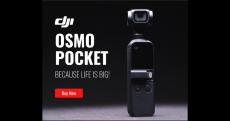 גימבל (מייצב ) DJI OSMO POCKET – מצלמת אקסטרים מיוצבת זעירה שעושה קסמים