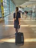 """המזוודה המומלצת ביותר לטיסה !  מזוודה קלה """"ECHOLIGHT 20 עם אחריות 3 שנים יבואן רשמי!"""