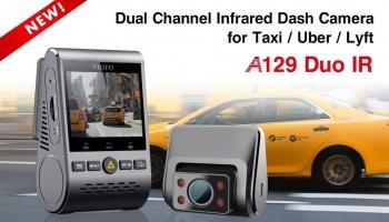 מצלמת רכב כפולה וסופר מומלצת VIOFO A129 IR Duo  – קבל חשמלי במקום סוללה ומצלמת IR לפנים הרכב לצילום בחושך! (מעולה לנהגי מוניות)