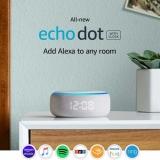 רמקול חכם Amazon Echo Dot3 – הדגם החדש! כולל שעון מואר ועוזרת קולית Alexa