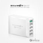 מטען מהיר BlitzWolf BW-S7 QC3.0 40W 5 USB Charger במחיר שאסור לפספס!
