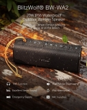 🌟מומלץ לרכוש 2 יחידות לחווית סטריאו!😎רמקול בלוטוס מוגן בפני מים בעוצמה 20W עם דגש על הבאס ו-NFC מובנה | BlitzWolf BW-WA2🌟