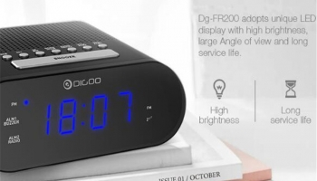 שעון מעורר + רדיו DG-FR200 מבית DIGOO !