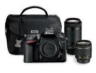 """מבצע פגז למצלמת ניקון DSRL D7200 הכוללת שתי זוגות עדשות ונרתיק רק ב1220 דולר כ4270 ש""""ח"""