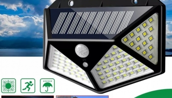 מנורת סנסור של 100 LED Solar Powered 600lm PIR Motion Sensor במחיר מדהים!