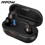 אוזניות בלוטוס TWS דגם Mpow T5 – עמידות במים, מעולות לעוסקים בספורט, ואיכות שמיעה מצויינת! קופון בלעדי!