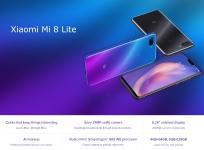 הפלאפון Xiaomi Mi 8 Lite בגרסה הגלובאלית כולל מטען מקורי בנפח של ה-4GB/64GB עם ביטוח מסים ומכס